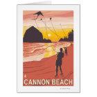Beach & Kites - Cannon Beach, Oregon Card