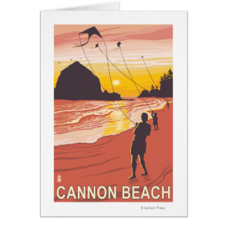 Beach & Kites - Cannon Beach, Oregon Card