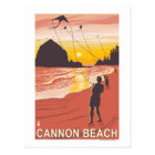 Beach & Kites - Cannon Beach, Oregon Postcard