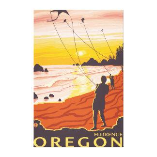 Beach & Kites - Florence, Oregon Canvas Print