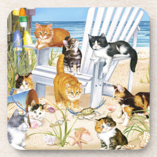 Beach Kittens Coasters