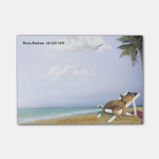 Beach Kitty Post-it-Notes (customizable) Post-it Notes