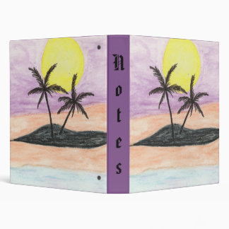 Beach Landscape for Notes 3 Ring Binder