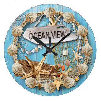 Beach Large Clock