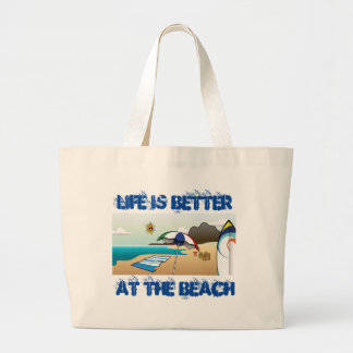 Beach Large Tote Bag