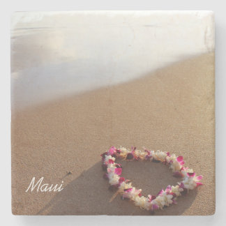 Beach & Lei Stone Coaster