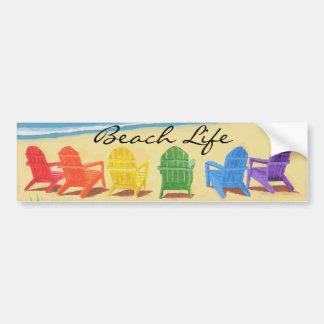 Beach Life Bumper Sticker Car Bumper Sticker