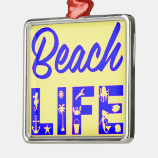 Beach Life  FB.com/USAPatriotGraphics © Metal Ornament