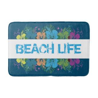 Beach Life Hibiscus Pattern Bath Mat