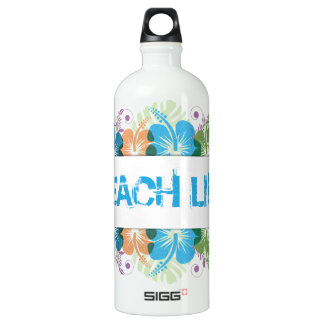 Beach Life Hibiscus Pattern Water Bottle