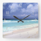 Beach Life Ocean View Clock