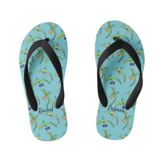 Beach Life of Sea Dragons Kid's Flip Flops