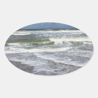 Beach Life Oval Sticker