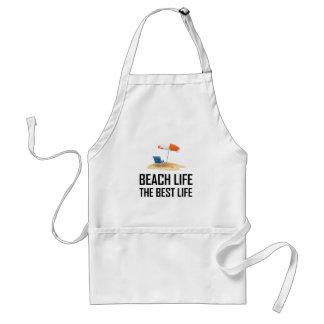 Beach Life The Best Life Standard Apron