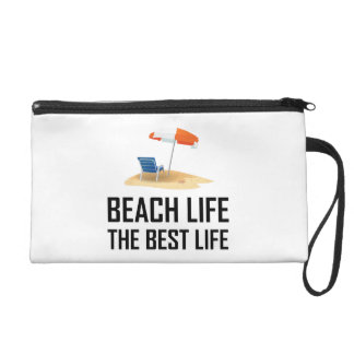 Beach Life The Best Life Wristlet