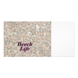 beach life washed crushed shells scallop photo card template