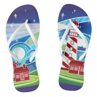Beach Lighthouse Vector Design Flip Flop Sandals Flip Flops