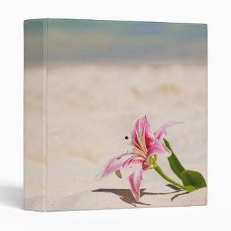 Beach Lily 3 Ring Binder