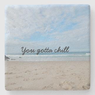 Beach limestone chill out Coaster Stone Coaster