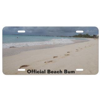 Beach License Plate