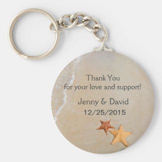 Beach Love Personalized Key Ring Wedding Favor