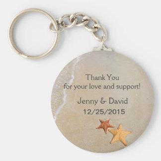 Beach Love Personalized Key Ring Wedding Favor Keychains