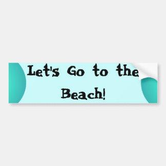 Beach Lovers Bumper Sticker