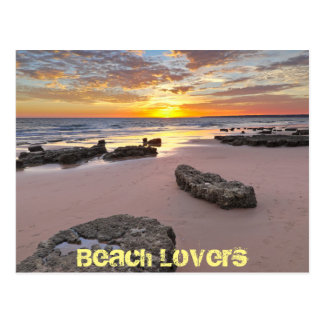 Beach Lovers - Summer season theme Postcard