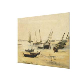 Beach, Low Tide Canvas Print