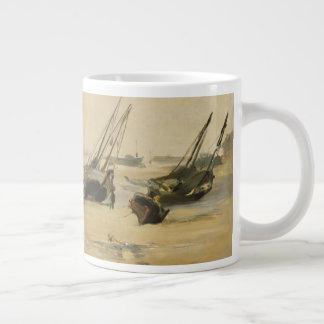 Beach, Low Tide Large Coffee Mug
