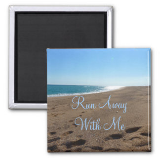 Beach Magnet with Quote
