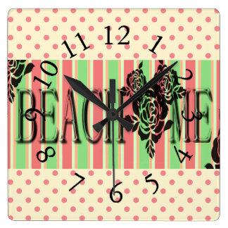 Beach-Me*-Watermelon-Stripes(c)Multi-Choices Wallclock