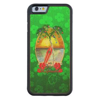 Beach Mele Kalikimaka Carved® Maple iPhone 6 Bumper Case