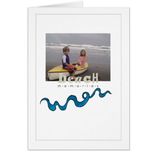 beach memories greeting card