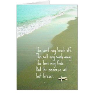 Beach Memories Last Forever Card