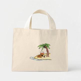 beach mini tote bag