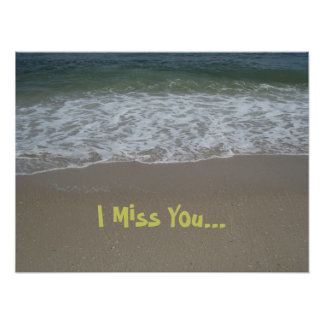 Beach Miss You Poster