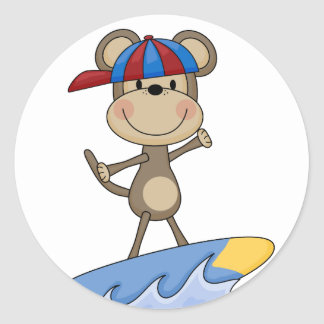 Beach Monkey - Surfing T-shirts and Gifts Classic Round Sticker