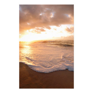 Beach Moorea Island Sunset French Polynesia Stationery