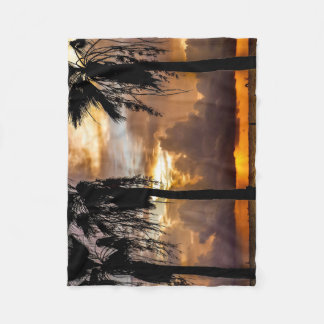 Beach morning fleece blanket