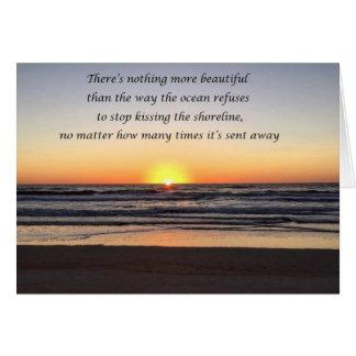 Beach Morning Sunrise Card