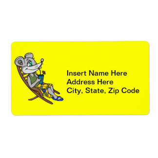 Beach Mouse Shipping Label