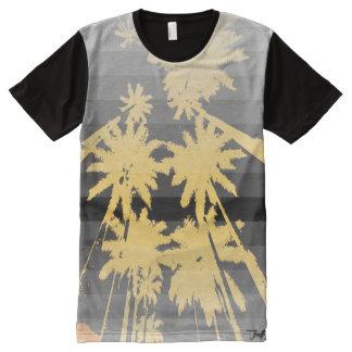 beach night black yellow All-Over-Print T-Shirt