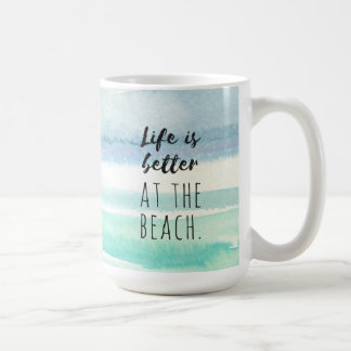 Beach Ocean Themed Decor Watercolor Mug