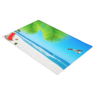 Beach Ocean View Door Mat