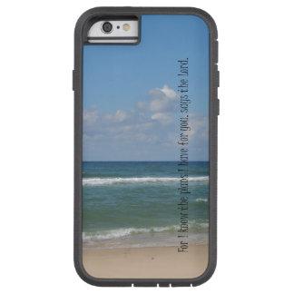 Beach Ocean with Bible Verse Tough Xtreme iPhone 6 Case