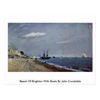 Beach Of Brighton With Boats By John Constable Postcard