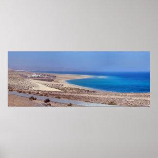 Beach of Leeward in Fuerteventura Poster