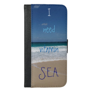 Beach of Nassau,Bahamas iPhone 6/6s Plus Wallet Case