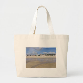 Beach of Saint-Cast-le-Guildo in France Large Tote Bag